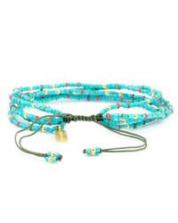 Chan Luu - Blue Turquoise Mix Beaded Strand Bracelet On Cactus Cord - Lyst