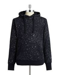 G-Star RAW | Blue Splattered Hoodie for Men | Lyst