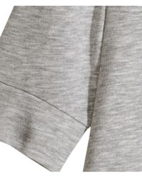 H&M - Gray Fine-Knit Top - Lyst