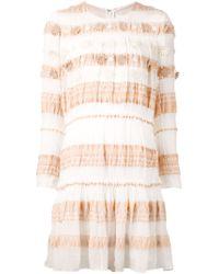 Chloé | White Long Sleeve Dress | Lyst