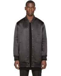 Wanda Nylon | Black Textured Teddy Rocky Coat for Men | Lyst