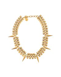 Ela Stone - Metallic Marla Spikes Short Necklace - Lyst