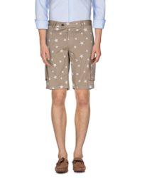 Saucony - Natural Bermuda Shorts for Men - Lyst