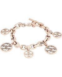 Michael Kors | Metallic Monogram Disc Chain Bracelet | Lyst