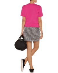 Brian Lichtenberg - Pink Féline Meow Glitter-printed Cotton T-shirt - Lyst