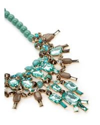 Kenneth Jay Lane | Multicolor Contrast Bead And Crystal Necklace | Lyst