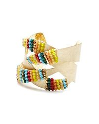 Nakamol | Multicolor Kanak Cuff-turquoise Mix/gold | Lyst