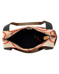 Orla Kiely Natural Matt Laminated Giant Linear Stem Print Classic Zip Shoulder Bag