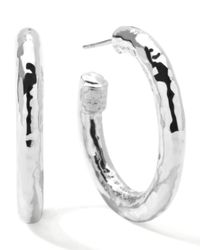Ippolita | Metallic Glamazon Silver Hoop Earrings | Lyst