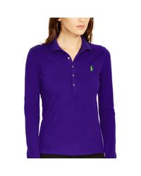 Polo Ralph Lauren | Purple Long-sleeve Stretch Polo | Lyst