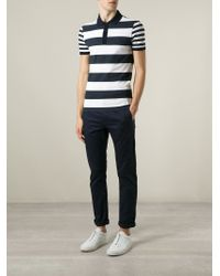 Burberry Brit - Blue Striped Polo Shirt for Men - Lyst