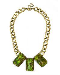 BaubleBar - Green Triple Bling Collar - Lyst