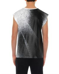 Balenciaga - White Spray-Print Cotton Tank Top for Men - Lyst