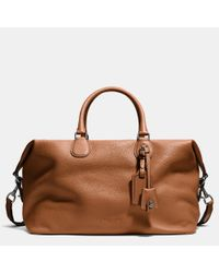 COACH | Brown Explorer Bag In Pebble Leather for Men | Lyst