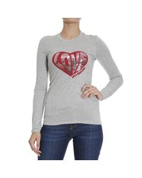 Love Moschino | Gray T-shirt | Lyst