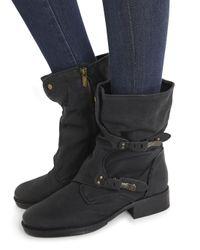 13a3d2a7898d6 Sam Edelman Ridge Black Leather Boots in Black - Lyst
