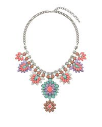 TOPSHOP - Multicolor Womens Bright Beads Flower Necklace Multi - Lyst