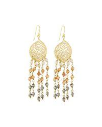 Panacea | Metallic Hematite Crystal-fringe Earrings | Lyst