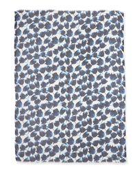 Oscar de la Renta - Blue Tulip-Print Modal/Cashmere Scarf - Lyst