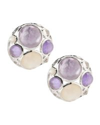 Ippolita | Purple Wonderland Cluster Button Earrings | Lyst
