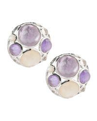 Ippolita - Purple Wonderland Cluster Button Earrings - Lyst