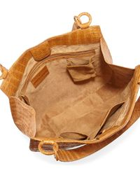 Nancy Gonzalez - Brown Crocodile Medium Hobo Bag - Lyst