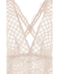 Luisa Beccaria - White Sleeveless Lace Dress - Lyst