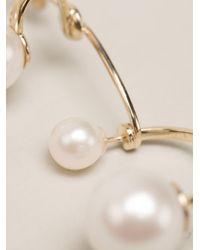 Delfina Delettrez | Metallic 9kt Gold Multipearl Earring | Lyst