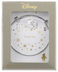 Disney | Metallic Minnie Mouse Crystal Charm Bracelet In Stainless Steel | Lyst