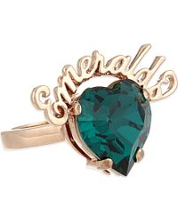Mawi - Blue Emeralds Crystal Ring - For Women - Lyst