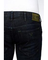 Armani Jeans - Blue Slim Fit Dark Wash Jeans for Men - Lyst