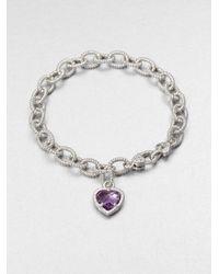Judith Ripka - Metallic Sterling Silver Charm Bracelet - Lyst