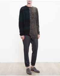 Miharayasuhiro - Black Long Distressed Knit - Lyst