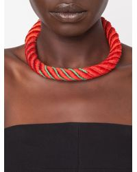 Aurelie Bidermann   Red 'maya' Choker Necklace   Lyst