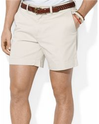 Polo Ralph Lauren | Blue Classic-Fit Flat-Front Chino Shorts for Men | Lyst