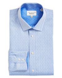 Ted Baker - Blue 'endurance' Trim Fit Dobby Dress Shirt for Men - Lyst