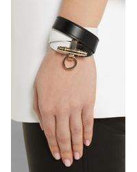 Givenchy - Obsedia Bracelet in Black and White Leather - Lyst