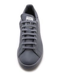 Adidas By Raf Simons | Gray Stan Smith Leather Sneakers | Lyst