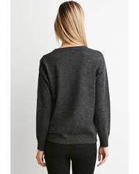 Forever 21 | Gray Fringe-trim Sweater | Lyst