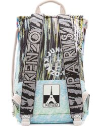 KENZO - Multicolor Peach Signature Prints Urban Backpack - Lyst