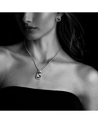 David Yurman - Blue Albion Earrings With Darkened Sterling Silver, 11mm Gemstone - Lyst