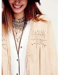 Free People | Brown Fp New Romantics Smocked Suede Jacket | Lyst
