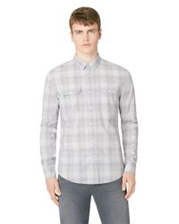 Calvin Klein Jeans | Gray Yard Dye Ombre Plaid Sportshirt for Men | Lyst