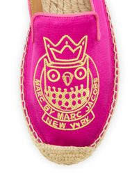 Marc By Marc Jacobs - Pink Owl Satin Espadrille Flat - Lyst