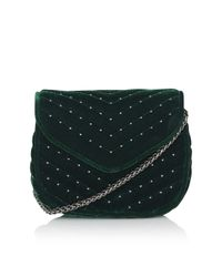 TOPSHOP | Green Velvet Crossbody Bag | Lyst
