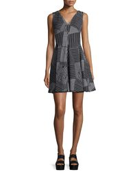 Opening Ceremony - Black Parking Lot Jacquard Fit-and-flare Dress - Lyst