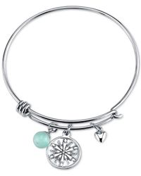 Disney | Metallic Frozen Snowflake Amazonite Charm Bracelet In Stainless Steel | Lyst