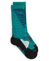 Nike - Green 'hyper Elite' Cushioned Crew Socks - Lyst