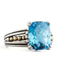 Lagos - Metallic Blue Topaz Prism Ring - Lyst