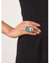 Vivienne Westwood | Blue Embellished 'Armour' Ring | Lyst